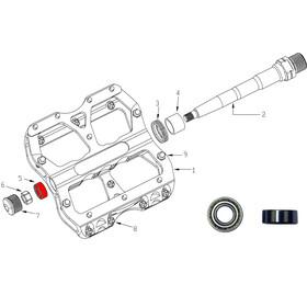 Reverse Bearing für Escape Pedal 2-tlg